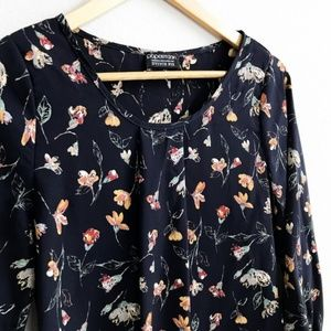 Papermoon Tops - Papermoon : Navy Floral Blouse Size XS